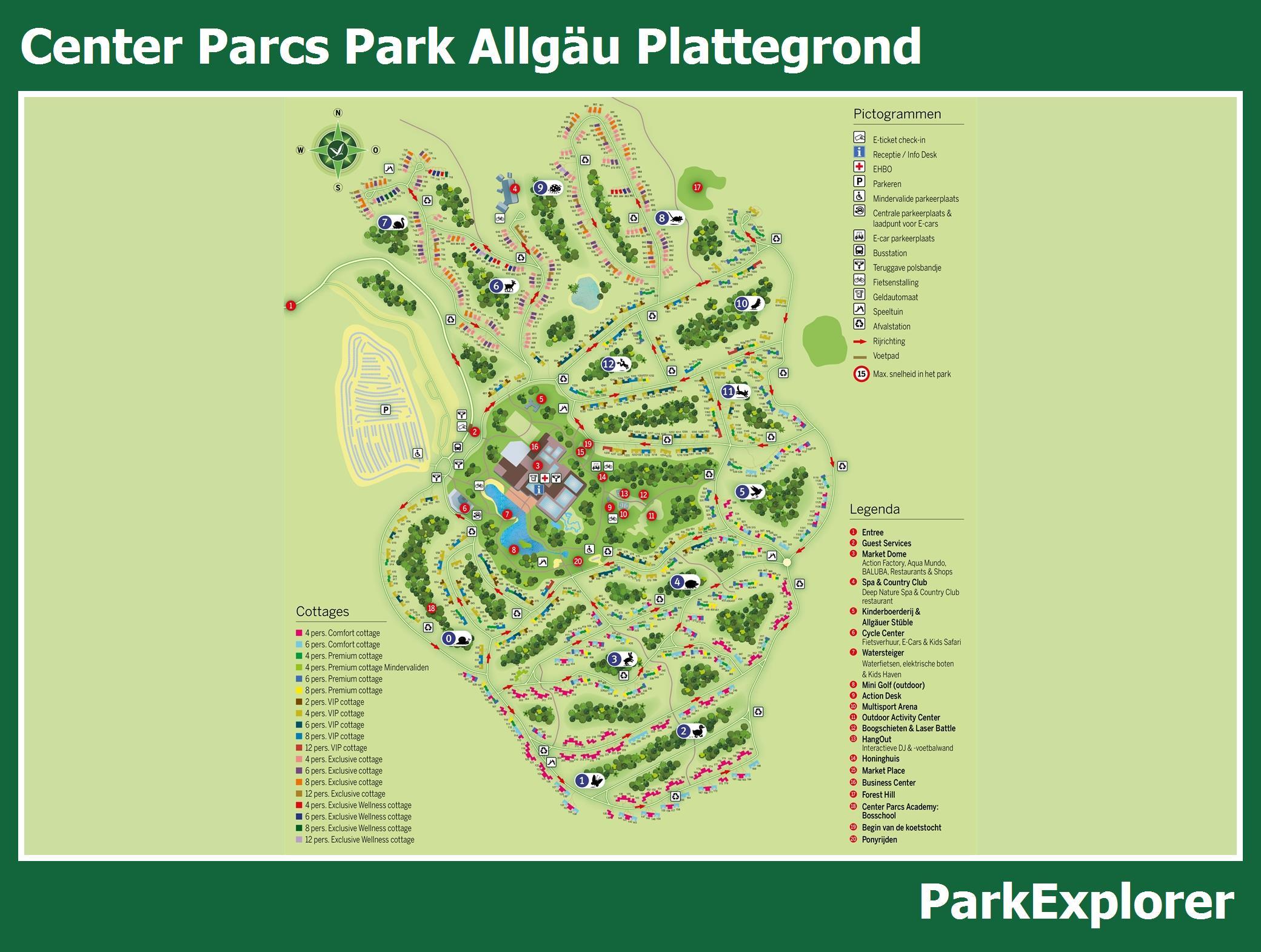 Center Parcs De Eemhof Plattegrond.Parken Centerparcs Kaart Ritchie