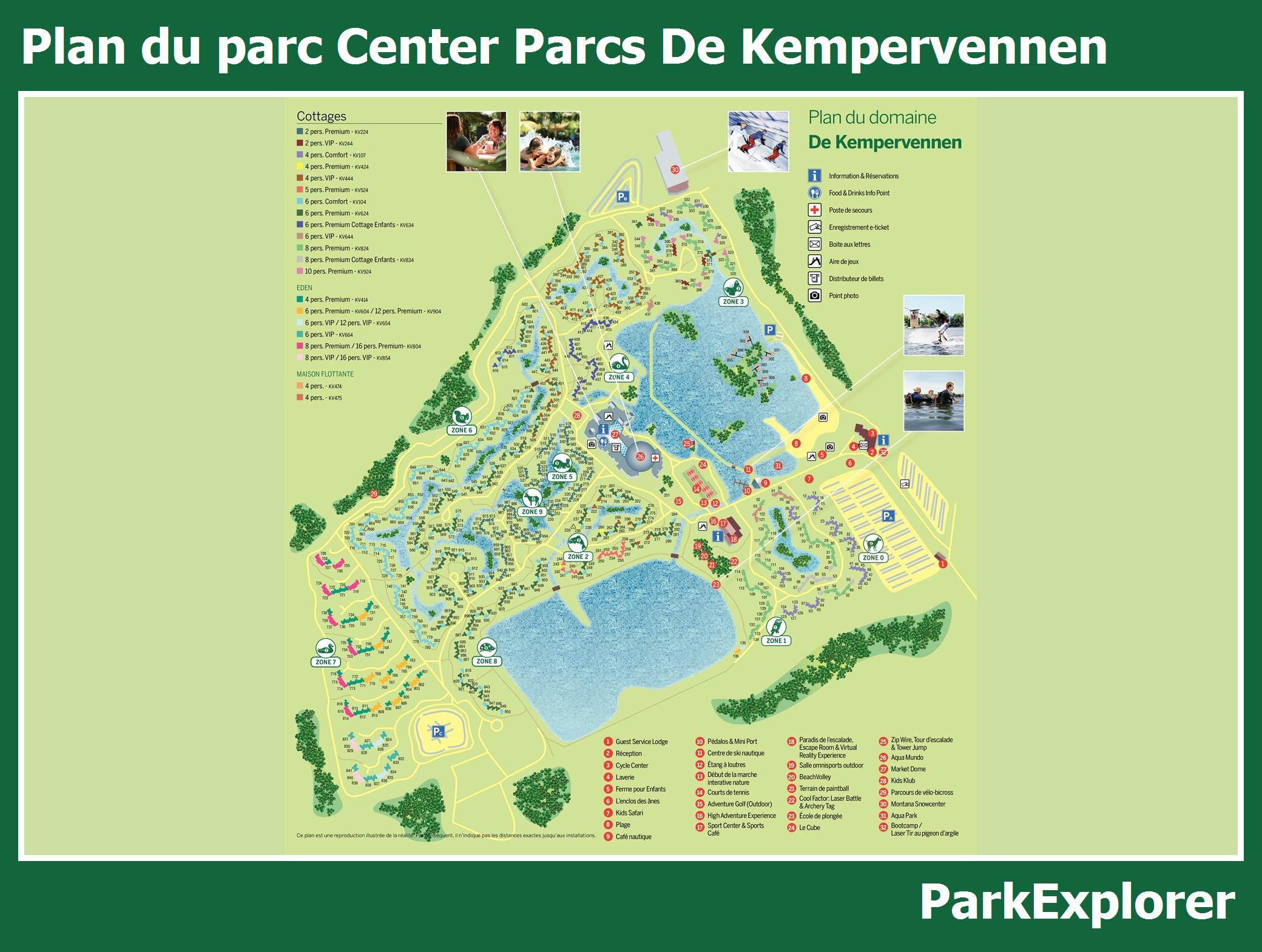 Plan Center Parcs De Kempervennen