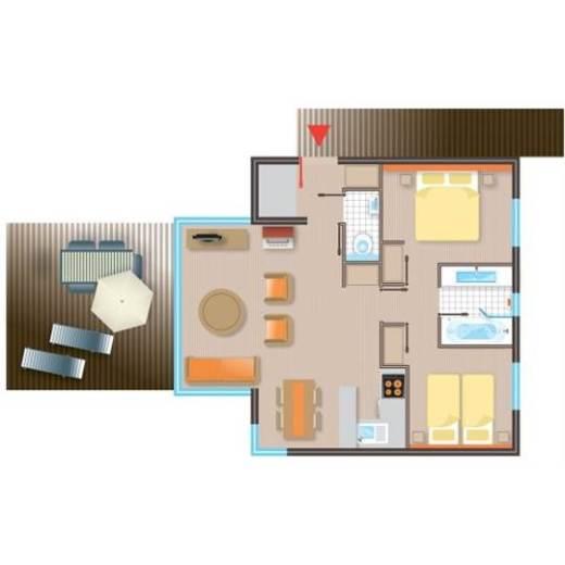 fr cottage premium eden bf228 de center parcs les bois francs. Black Bedroom Furniture Sets. Home Design Ideas