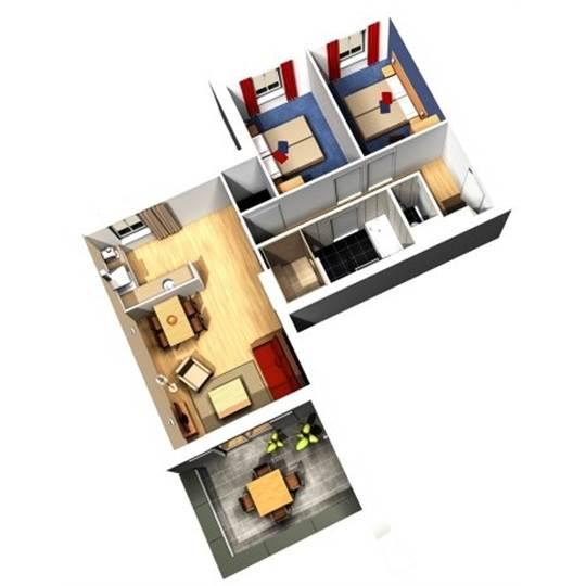 Nl waterfront suite eh904 in center parcs de eemhof - Plan ouderslaapkamer met badkamer en kleedkamer ...