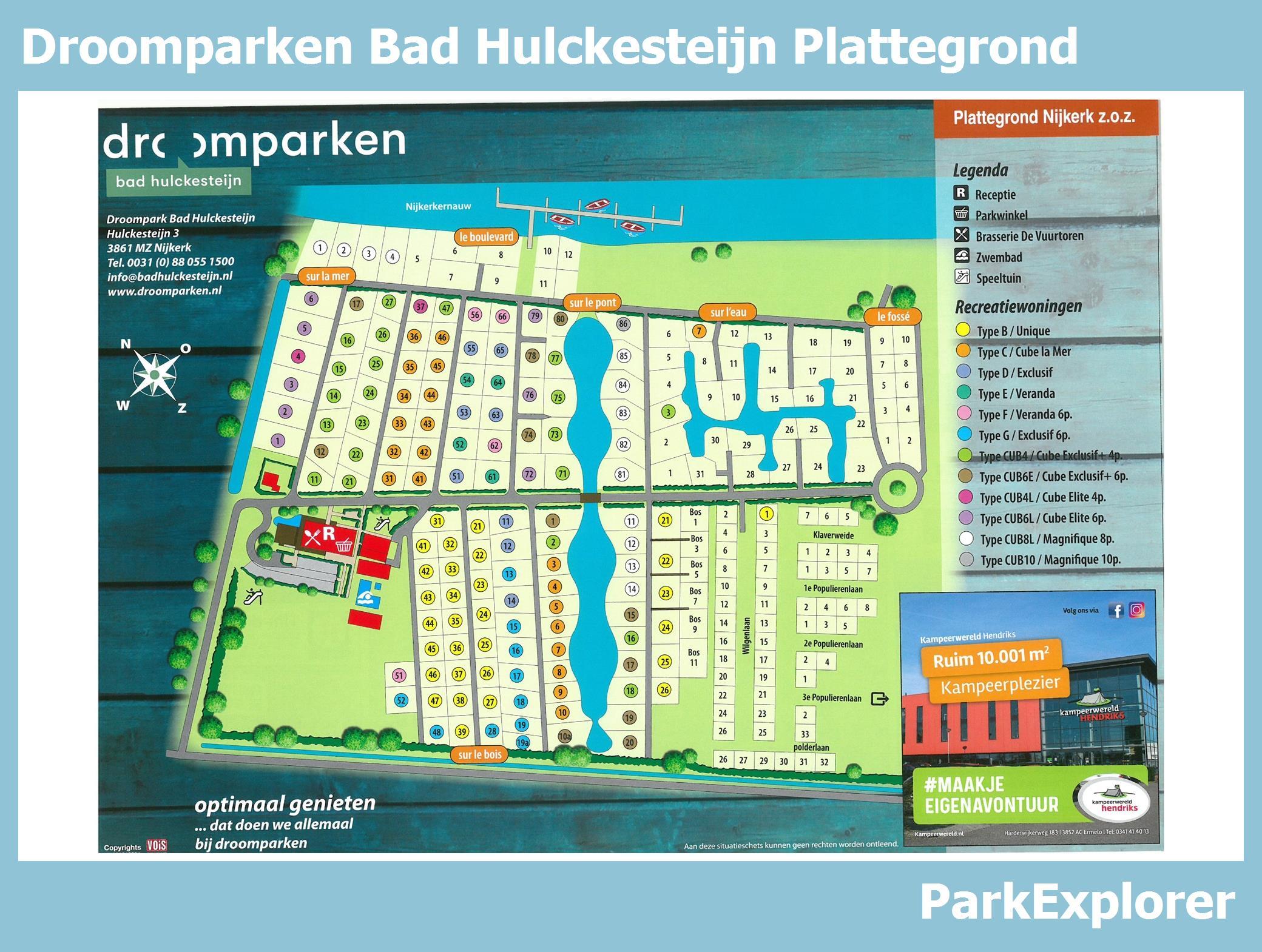 Center Parcs De Eemhof Plattegrond.Px Park Plattegrond Van Droompark Bad Hulckesteijn Parkexplorer Be